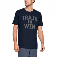 T-shirt Under Armour Train to Win - Bleu Marine