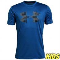 T-shirt Enfant Under Armour Tech Big Logo - Bleu