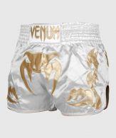Short Muay Thai Venum Giant - Blanc/Doré - Exclusivité