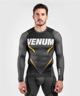 T-shirt de compression Venum ONE FC Impact - manches longues - Gris/Jaune