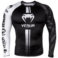 Rashguard Venum Logos - Manches Longues - Noir/Blanc