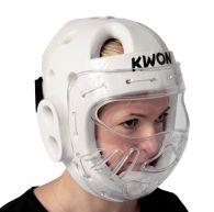 Casque de Taekwondo avec visière Kwon KSL - Blanc - Homologué WT
