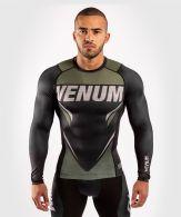 T-shirt de compression Venum ONE FC Impact - manches longues - Noir/Kaki