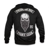 "Sweat à capuche et zip Pride or Die ""Fight Club"" - Noir"