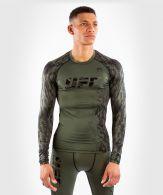 T-shirt de Compression Manches Longues Homme UFC Venum Authentic Fight Week - Kaki