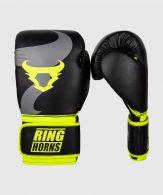 Gants de boxe Ringhorns Charger - Noir/Jaune Fluo