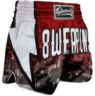 Short de Muay Thai 8 Weapons Lightning - Rouge Red City