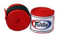 Bandages de Boxe Fairtex - Rouge - 4m50