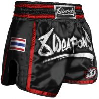 Short Muay Thai 8 Weapons Super Mesh - Noir/Rouge