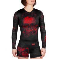 Rashguard Femme Venum Santa Muerte 3.0 - Manches longues - Noir/Rouge