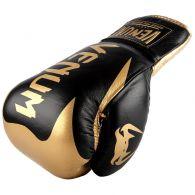 Gants de boxe Pro Venum Hammer - Avec Lacets - Noir/Or