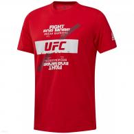 T-shirt Reebok UFC Fan Gear Fight For Yours - Rouge