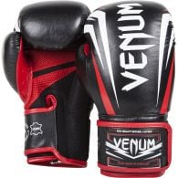 Gants de boxe Venum Sharp - Cuir Nappa - Noir/Blanc/Rouge