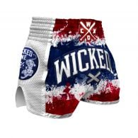 Short de Muay Thai Wicked One Glorious - Blanc