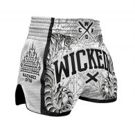 Short de Muay Thai Wicked One Tiger - Blanc