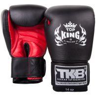 Gants de boxe Top King - Noir/Rouge