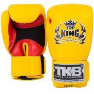 Gants de boxe Top King Super Air - Jaune/Rouge