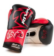 Gants de Boxe Pro Rival Guerrero - Noir/Rouge/Blanc
