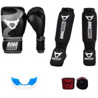 Pack Boxe Pieds Poings Ringhorns Noir/Gris