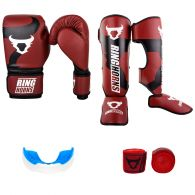 Pack Boxe Pieds Poings Ringhorns Rouge