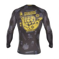Rashguard Pride or Die Hang Loose - Noir