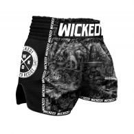Short de Muay Thai Wicked One Born to Resist - Noir