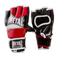 Gants combat libre pouce tenu Metal Boxe - Noir/Rouge/Blanc