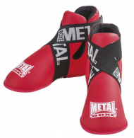 Protège-pieds Full Contact Metal Boxe - Rouge