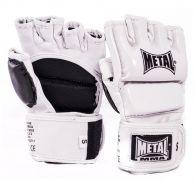 Gants de combat libre MB534 Metal Boxe - MMA - Blanc