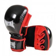 Gants de Sparring MMA Metal Boxe - Noir/Rouge
