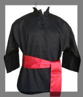Veste de Kung-Fu Fuji Mae - Noir - Ceinture rouge