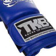 Gants de boxe Top KIng Double Velcro Neon - Bleu/Noir