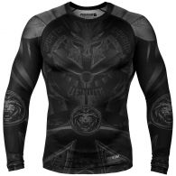 Rashguard Venum Gladiator 3.0 Manches longues - Noir/Noir - Exclusivité