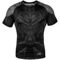 Rashguard Venum Gladiator 3.0 Manches courtes - Noir/Noir - Exclusivité