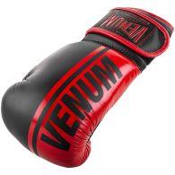 Gants de boxe pro Venum Shield - Velcro - Noir/Rouge