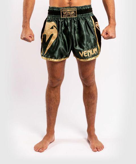 Short de Muay Thai Venum Giant Camo - Kaki/Doré