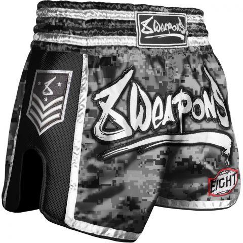 Short Muay Thai 8 Weapons Super Mesh City Camo