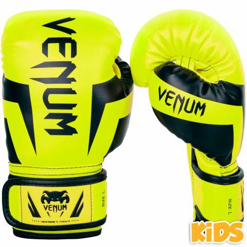 Gants de boxe enfant Venum Elite - Jaune fluo