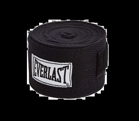 Bandages de Boxe Everlast - 120 cm - Noir
