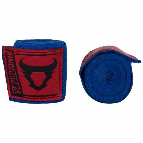 Bandages de boxe Ringhorns Charger - Bleu - 4 mètres