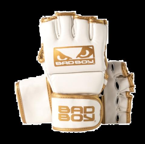 Gants de MMA Bad Boy Fashion - Avec Pouces - Blanc/Or