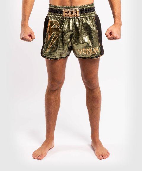 Short de Muay Thai Venum Giant Foil - Kaki/Doré