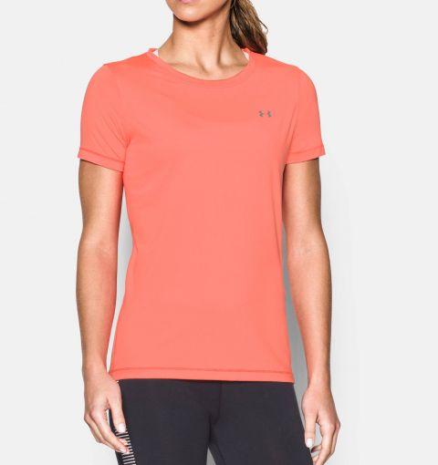T-shirt Femme Under Armour Heatgear Armour - Orange