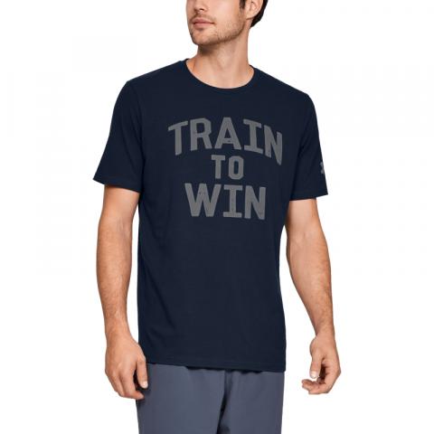 T-shirt Under Armour Train to Win - Bleu Marine