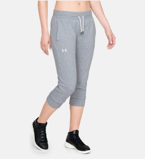 Corsaire Femme Under Armour Fleece Slim Leg - Gris
