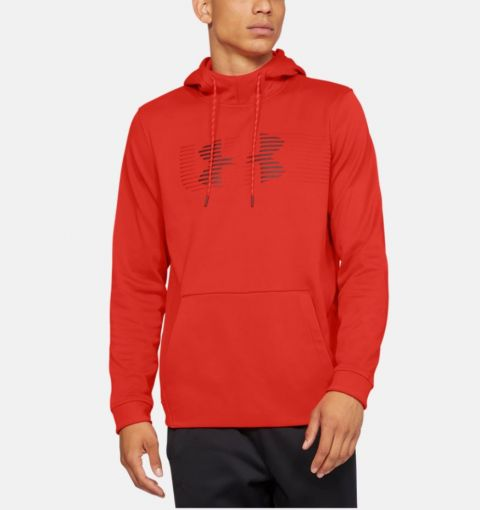 Sweat à capuche Under Armour Rival Fleece Spectrum - Rouge