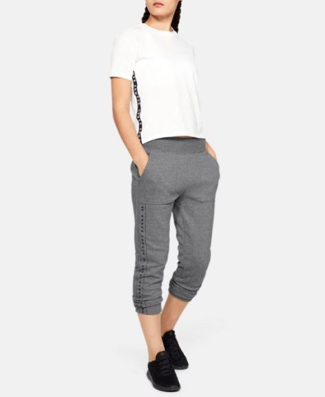 Pantalon Under Armour Rival Fleece pour femme - Gris chiné