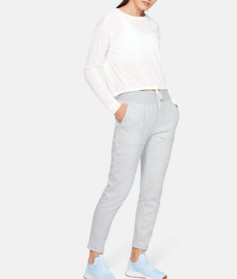 Pantalon Under Armour Rival Fleece pour femme - Gris