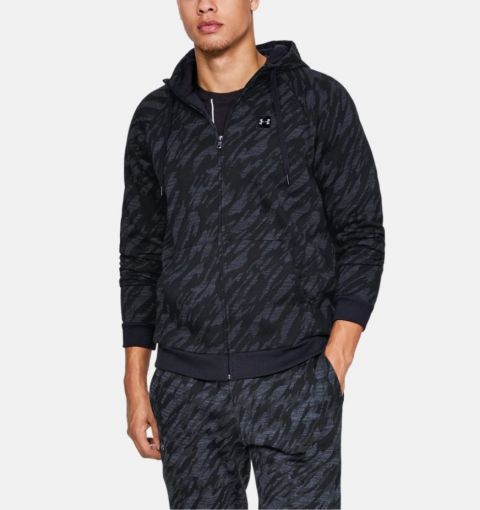 Sweat à capuche Under Armour Rival Camo - Noir