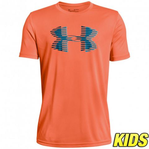 T-shirt Enfant Under Armour Tech Big Logo - Orange